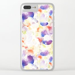 Abstract Washy Watercolour Splodges Clear iPhone Case