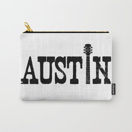 Austin Texas Graphic with Guitar Carry-All Pouch