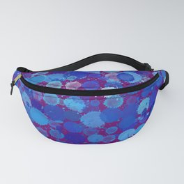 SPLOTCHES, BLUE Fanny Pack