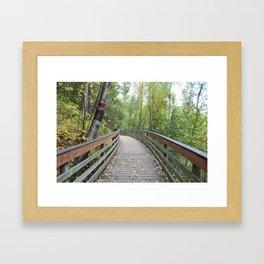 Walking Bridge in the Woods Framed Art Print