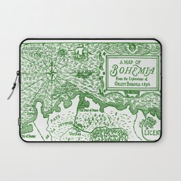 Map of Bohemia (green) Laptop Sleeve
