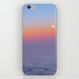 Sunset above the clouds iPhone Skin