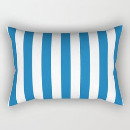 Biscayne Blue Vertical Tent Stripes Florida Colors of the Sunshine State Rectangular Pillow