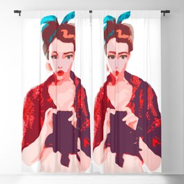 Poison Ivy - PinUp Blackout Curtain