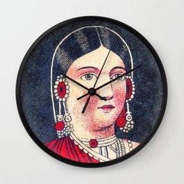 Vintage Matchbox Lady Wall Clock