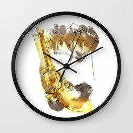 Cards & Gun Wall Clock