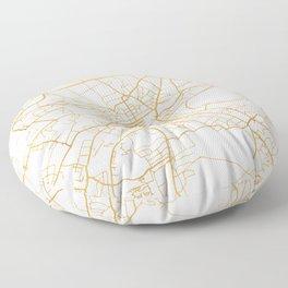 EDINBURGH SCOTLAND CITY STREET MAP ART Floor Pillow