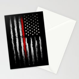 USA red line flag Stationery Cards