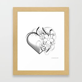 Blossom Heart Framed Art Print