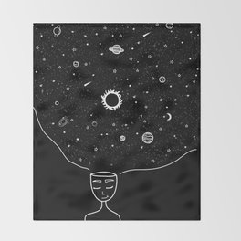 Galaxy in your Mind Throw Blanket