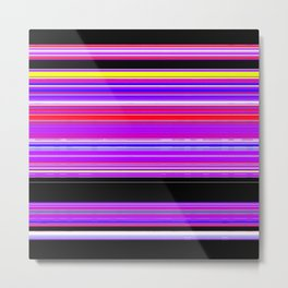 Unicorn Stripes Metal Print