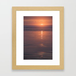 Sunset Sings Quietly Framed Art Print