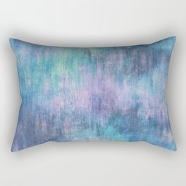 Baja Blue Watercolor Streaks Rectangular Pillow