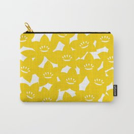 Bellflower pouch - yellow Carry-All Pouch