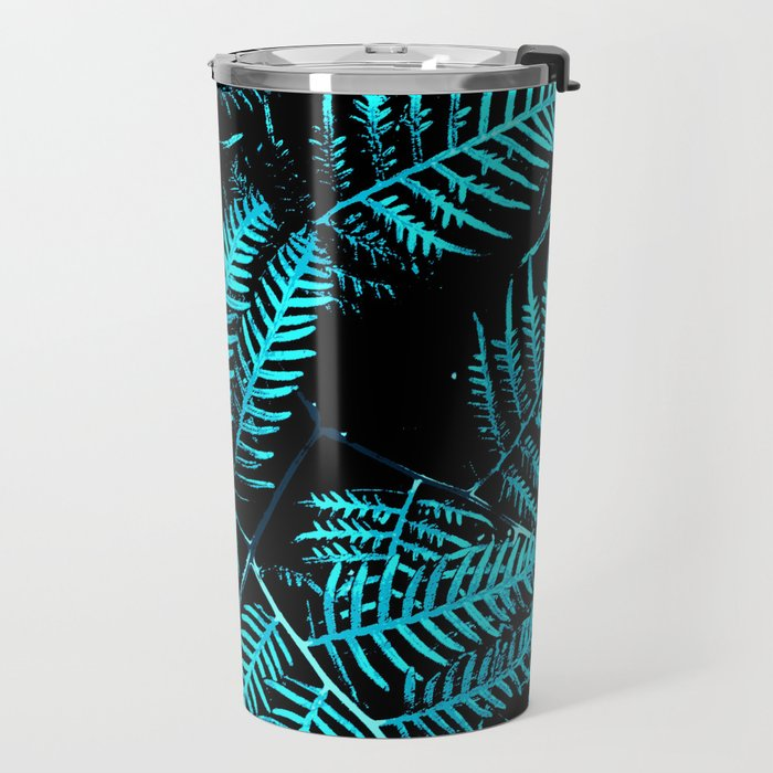 Teal Bracken Travel Mug