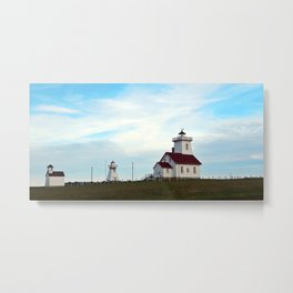 Wood Islands Lighthouse Compound Metal Print