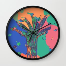 Colorful First Sprint Blossoms Wall Clock