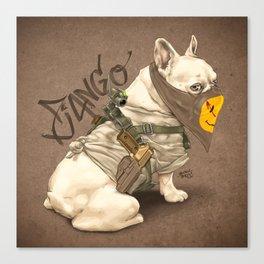 Doggy Vigilante // Django the French Bulldog Canvas Print