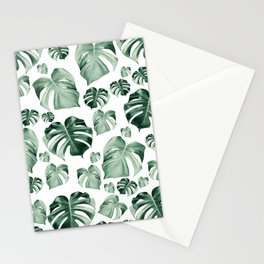 Tropical Monstera Pattern #2 #tropical #decor #art #society6 Stationery Cards
