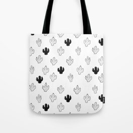 CACTUSES - 3D , black and white Tote Bag
