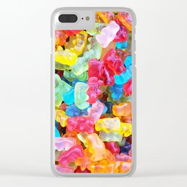 Gummy Bear Don't Care Clear iPhone Case