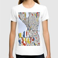 mondrian T-shirts featuring Seattle Mondrian by Mondrian Maps