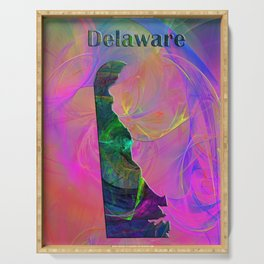 Delaware Map Serving Tray