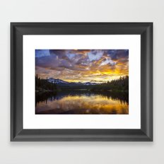 Mile High Sunset Framed Art Print