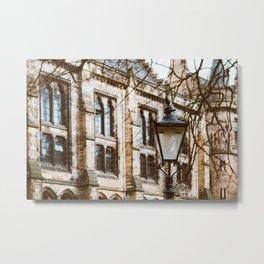 University Lamppost Metal Print