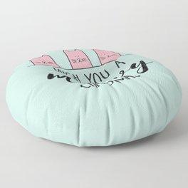 Meowy Christmas Mint Floor Pillow
