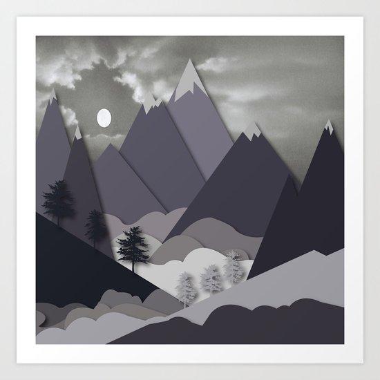 Night Mountains No. 24 Art Print