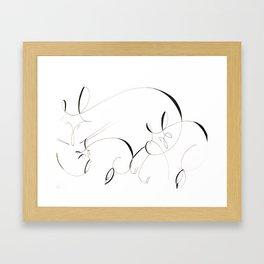 String Sleeping Framed Art Print