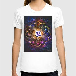 """The higher power of Om"" - sacred geometry T-shirt"