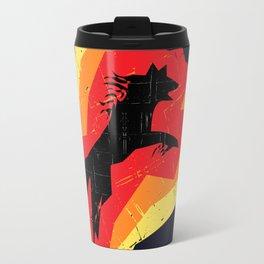 Fire Wolf (Texture) Travel Mug