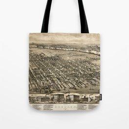 Map of Hoboken 1912 Tote Bag