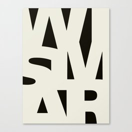 Wismar Typografie Dark Canvas Print
