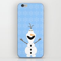 olaf iPhone & iPod Skins featuring Olaf by Aya Ghoneim