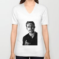 allyson johnson V-neck T-shirts featuring Anders Johnson (Bragi) by bragi