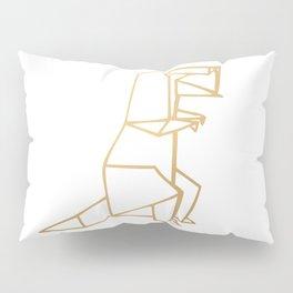Dinosaur Origami (gold) Pillow Sham