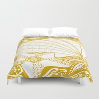 marine Duvet Covers featuring marine by Maritserg