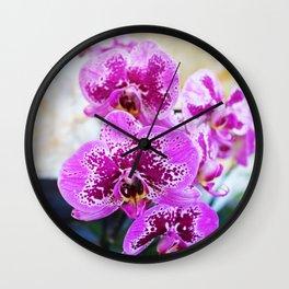 Purple Orchid Wall Clock