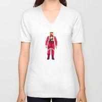 pilot V-neck T-shirts featuring pilot by BzPortraits
