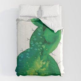 Watercolor catcus Comforters