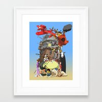calcifer Framed Art Prints featuring Studio of Dreams by CromMorc