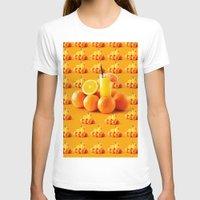 orange pattern T-shirts featuring Orange Pattern by Azeez Olayinka Gloriousclick