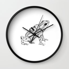 Pack your backpack Wall Clock