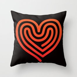 Hot Heart Throw Pillow
