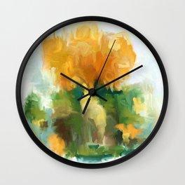 Golden bouquet Wall Clock