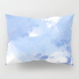 Blue and White Tie Dye Design Pillow Sham