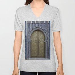 Arabic Mosaic Door gold Marokko Unisex V-Neck